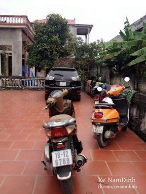 """Xe máy biển """"sang bằng tất cả"""" 6789 ở Nam Định."""