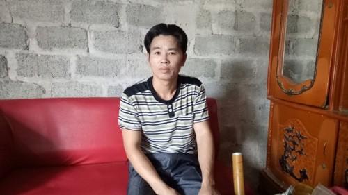 Anh Lê Văn Thủy kể lại sự việc mình bị chém.