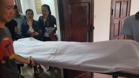 Nạn nhân tử nạn trên đường đến bệnh viện cấp cứu.