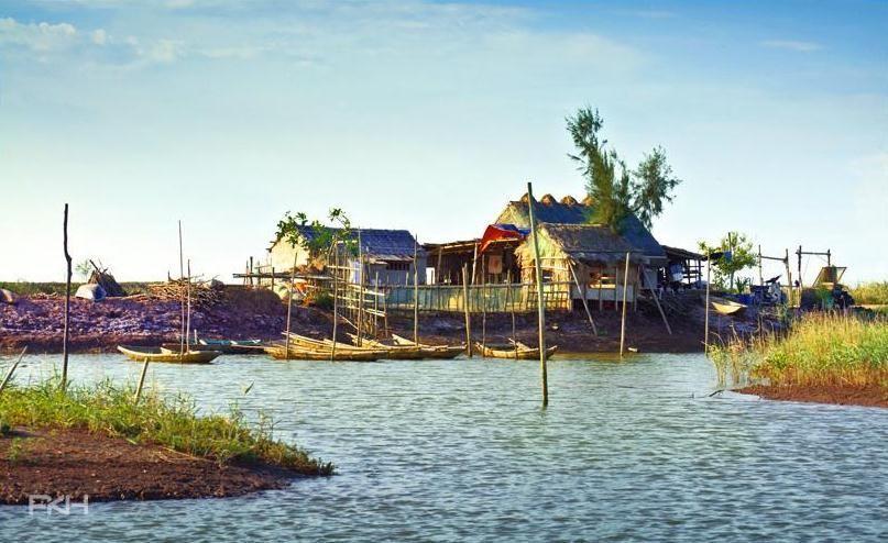Khung cảnh bình dị ở vườn quốc gia Xuân Thủy - Ảnh: Phí Kim Huyên