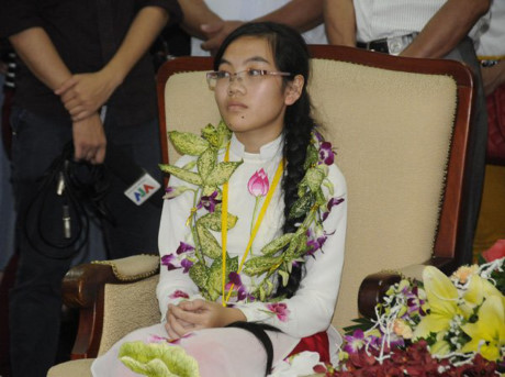 Thảo từng 2 lần đoạt Huy chương Vàng Olympic Vật lý quốc tếnăm 2015, 2016. Ảnh: Nguyễn Thảo