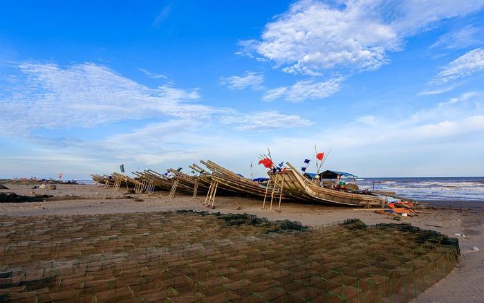 Vẻ đẹp yên bình trên vùng biển Nam Định - Ảnh: Ha Son