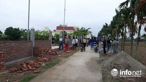 Nam Định: Hai làng xô xát vì một bức tường rào nghĩa trang