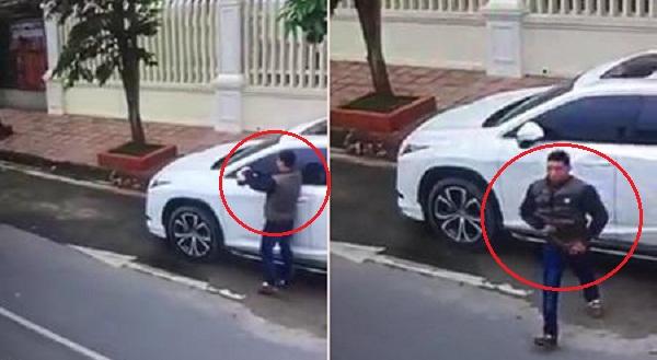 Clip: 'Đạo chích' cạy trộm mặt gương xe sang Lexus trong vài giây
