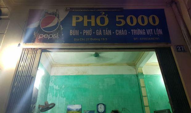 Quán phở độc nhất vô nhị ở Thành Nam: 13 năm vẫn một giá 5.000 đồng