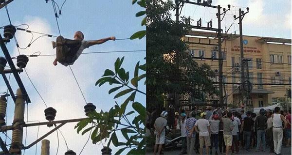Nam Định: Người đàn ông leo lên cột điện tự tử bị cả làng 'chửi' vì làm mất điện ngày nắng nóng