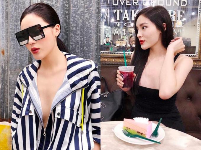 Hoa hậu Kỳ Duyên 'nghiện' mặc hở khoe vòng một sau nâng cấp