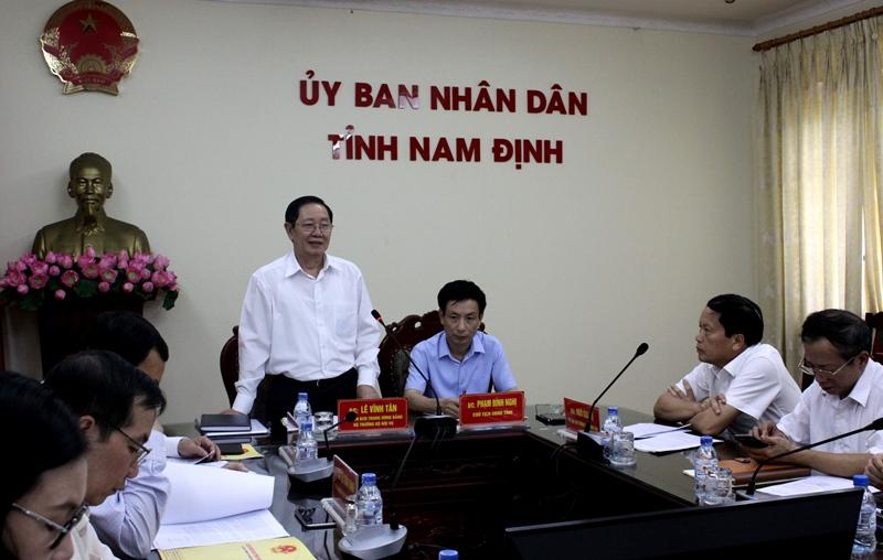 Tổ công tác của Thủ tướng kiểm tra công tác tổ chức, cán bộ tại Nam Định