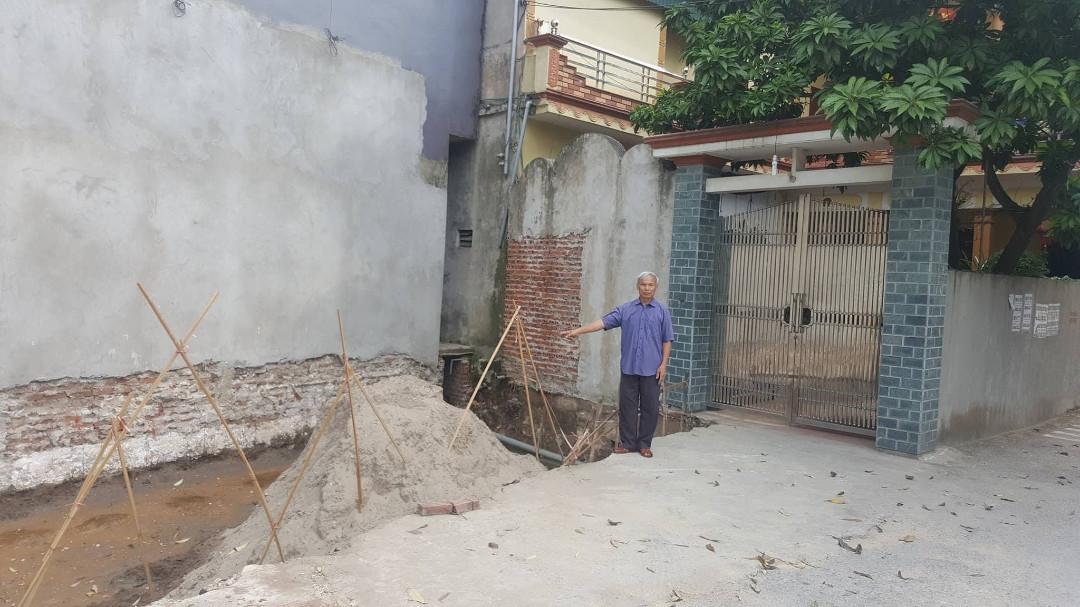 Ý Yên-Nam Định: Người thương binh già kêu cứu không biết đất mất đi đâu