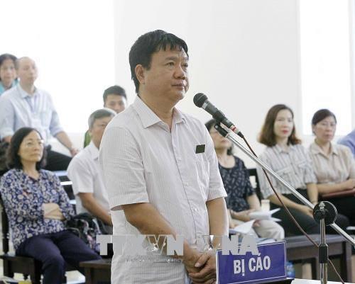 Lời sau cùng, ông Đinh La Thăng nói bản thân không có tội