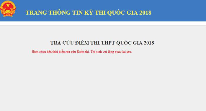 Tra cứu điểm thi THPT Quốc gia 2018 tại Nam Định chính xác nhất
