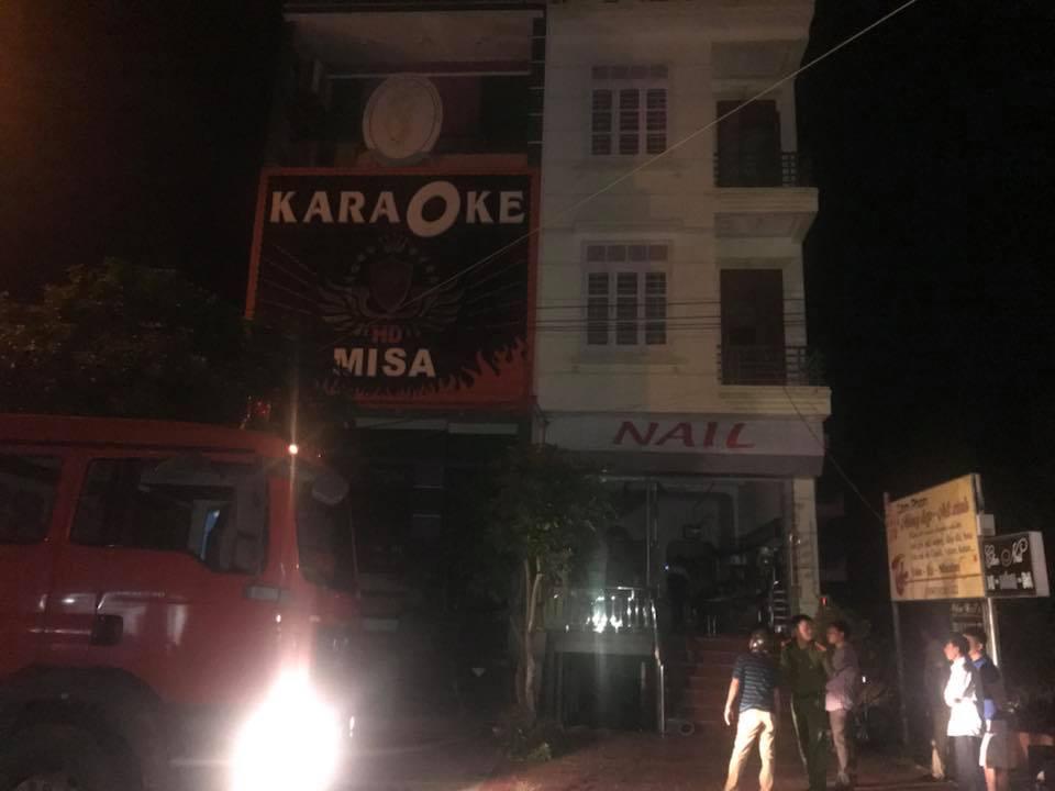 Cháy quán karaoke ở Quất Lâm – Nam Định, nhiều người bỏ chạy thoát thân