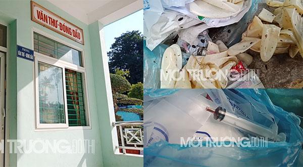 TT Y tế huyện Ý Yên: Hãi hùng cảnh rác y tế lẫn trong rác sinh hoạt