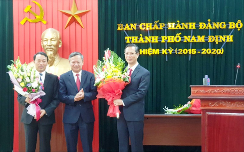Trưởng Ban dân vận tỉnh được điều động làm Bi thư Thành ủy TP Nam Định