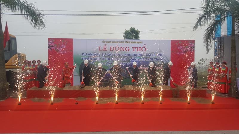 Khởi công xây dựng Khu Trung tâm lễ hội thuộc Khu di tích lịch sử-văn hóa thời Trần