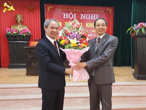 Trưởng ban Nội chính Tỉnh ủy làm Chủ tịch MTTQ tỉnh Nam Định
