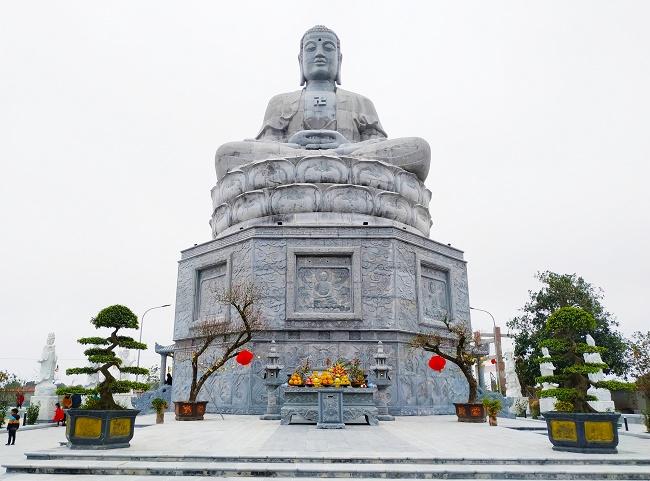 Du lịch tâm linh Nam Định: Ngôi chùa có tượng đá xanh lớn nhất Việt Nam