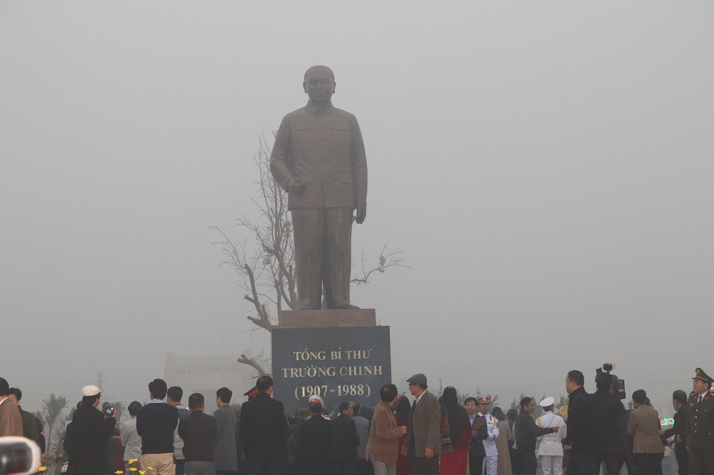 Nam Định: Dựng lại tượng đài cố Tổng Bí thư Trường Chinh