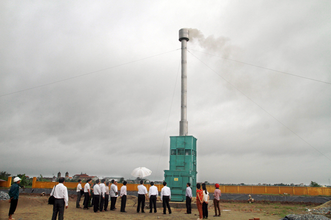 Xuân Trường Nam Định – Lò đốt sinh thái Losiho: Giảm mối lo ô nhiễm từ rác thải nguy hại
