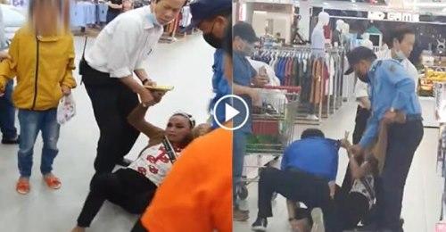 Clip bức xúc: Người phụ nữ dắt theo con nhỏ đi ăn trộm nước hoa tại Big C Nam Định