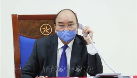 Thủ tướng Nguyễn Xuân Phúc điện đàm với Thủ tướng Trung Quốc Lý Khắc Cường