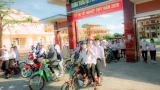 Thí sinh Nam Định nhẹ nhõm sau khi kết thúc môn thi Ngoại ngữ