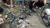 """Chùm ảnh: Người dân Nam Định """"khát điện"""" sau bão số 1"""