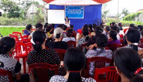 """""""Chi hội phụ nữ 5 không, 3 sạch"""" xây dựng nông thôn mới ở Quần Phương"""