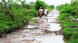 Đê hữu Hồng qua địa bàn huyện Mỹ Lộc hư hỏng trầm trọng