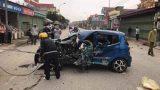 Nam Định: Ô tô va chạm với xe ba bánh làm 3 người bị thương