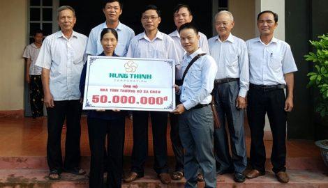 Công ty Hưng Thịnh Land hỗ trợ trung tâm cưu mang người già, tàn tật ở Nam Định