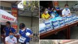 CLB Nam Định xuống đường phát khẩu trang miễn phí cho người dân