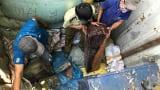 2 tấn gỗ trắc cất giấu dưới bao tải lông vịt của lái xe người Nam Định