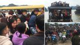 Chen nhau lên xe điện, thuyền vào ngôi chùa lớn nhất thế giới ở Hà Nam ngày mùng 3 Tết