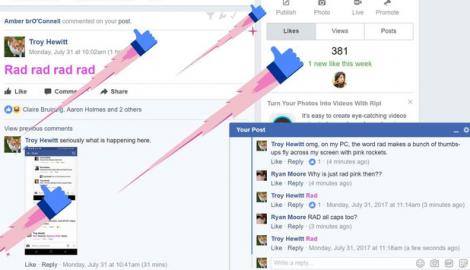 """Xuất hiện """"nút Like nhảy"""" mới vừa có trên Facebook, bạn đã thử chưa?"""