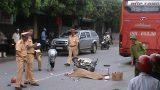 Nam Định: Một phụ nữ chết thảm dưới bánh xe khách
