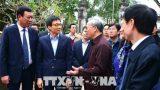 Phó Thủ tướng Vũ Đức Đam kiểm tra công tác chuẩn bị lễ hội đền Trần tại Nam Định
