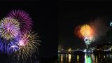 Clip pháo hoa rực sáng, lung linh trên bầu trời, chào năm mới 2018!