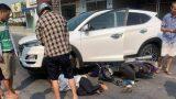 Nam Định: Tông vào Hyundai Tucson đang quay đầu xe, người đàn ông chạy xe máy bất tỉnh tại chỗ