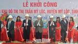 Khởi công xây dựng khu đô thị trung tâm Thị trấn Mỹ Lộc