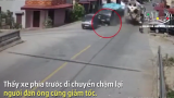 Khoảnh khắc người đàn ông bị xe ben cán qua đầu dẫn tới tử vong