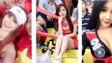 Dàn nữ cổ động viên Việt Nam và châu Á mặc quá táo bạo khi xem bóng đá