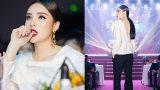 Hoa hậu Kỳ Duyên diện áo khoét lưng sâu hun hút làm giám khảo nhan sắc