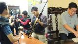 Tên cướp buông súng quy hàng sau câu nói của vị thượng tá công tỉnh Nam Định