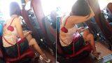 """Hình ảnh cô gái """"mặc như không mặc"""" trên chuyến xe khách Hà Nội – Nam Định  khiến nhiều người phải đỏ mặt quay đi"""