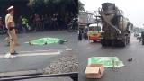 Va chạm với xe bồn trong mưa, 2 người tử vong