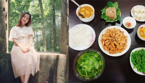 """Chỉ 100k, 9X Nam Định gợi ý mâm cơm cả tuần đuề huề, chồng phải bảo """"vợ nấu ít thôi"""""""