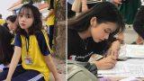 Bị chụp lén khi đang làm thủ tục nhập học, 'nữ thần đồng phục Nam Định' vẫn khiến bao anh chàng say đắm