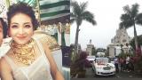 Xôn xao hình ảnh cô dâu vàng đeo trĩu cổ, đám cưới xuất hiện 2 siêu xe Rolls-Royce