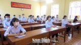 Nam Định: Bảo đảm an toàn, nghiêm túc kỳ thi tuyển sinh vào lớp 10 THPT khôɴɢ chuyên năm học 2021-2022